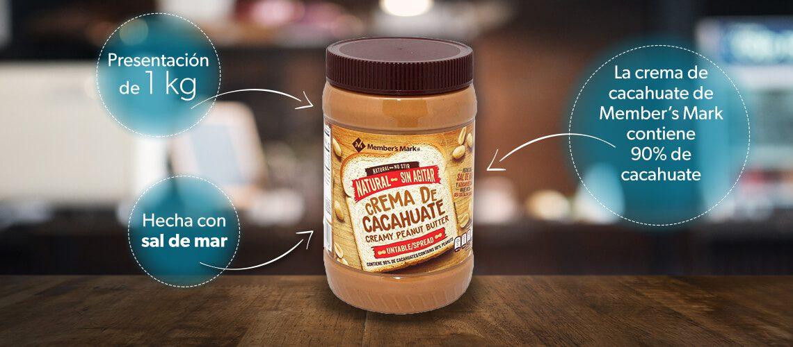 Crema de cacahuates
