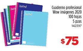 Cuaderno Wow