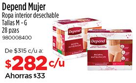 Depend Mujer