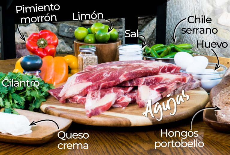 Ingredientes Agujas