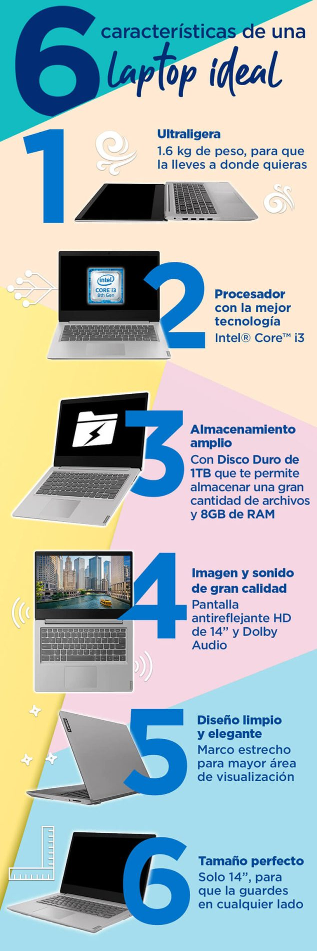 6 características de una laptop ideal