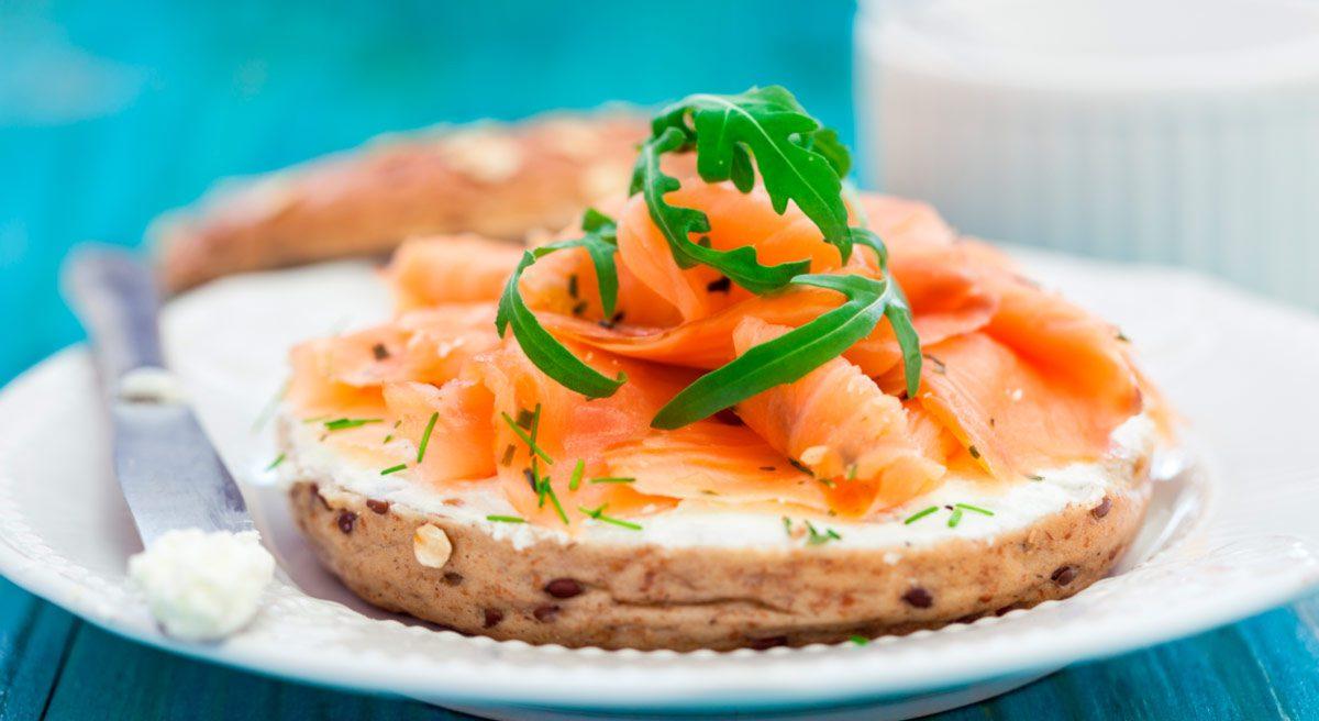 Desayunos Saludables Bagel De Salmon