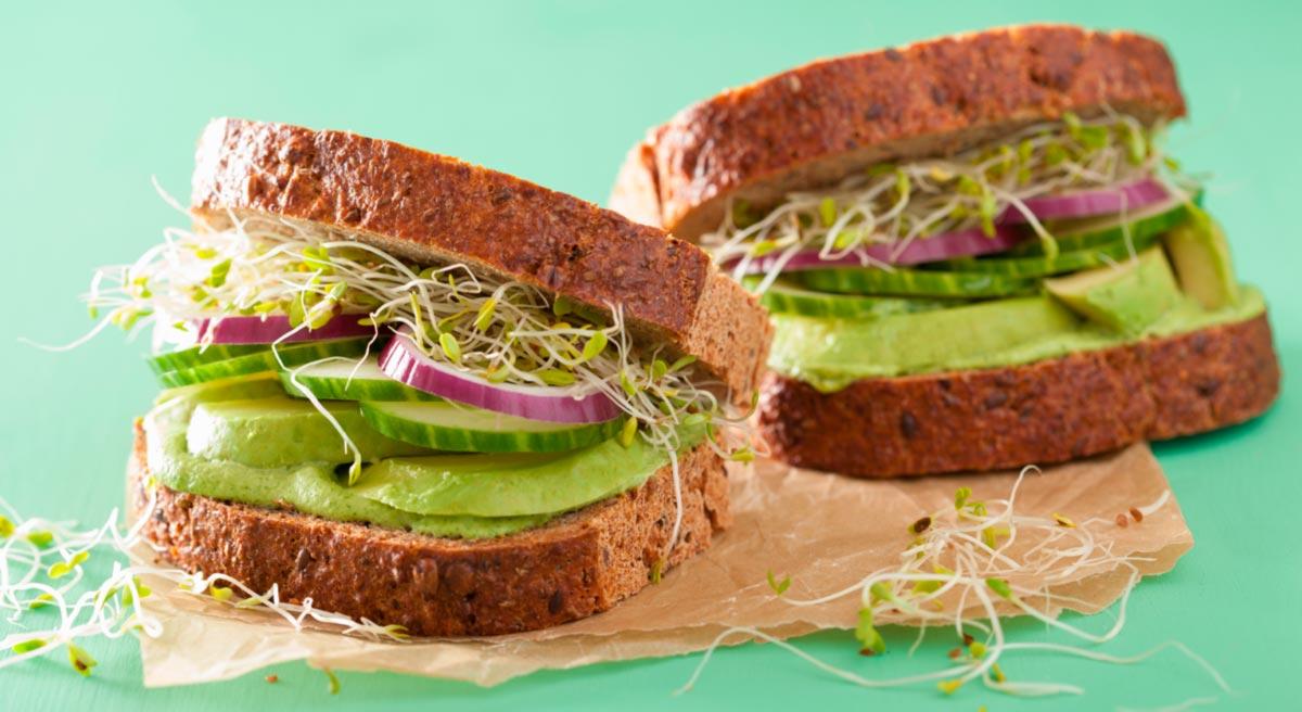 Desayunos Saludables Sandwich Vegetariano