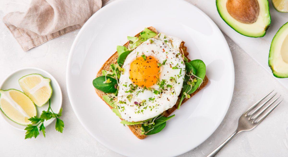 Desayunos Saludables Tostada De Huevo