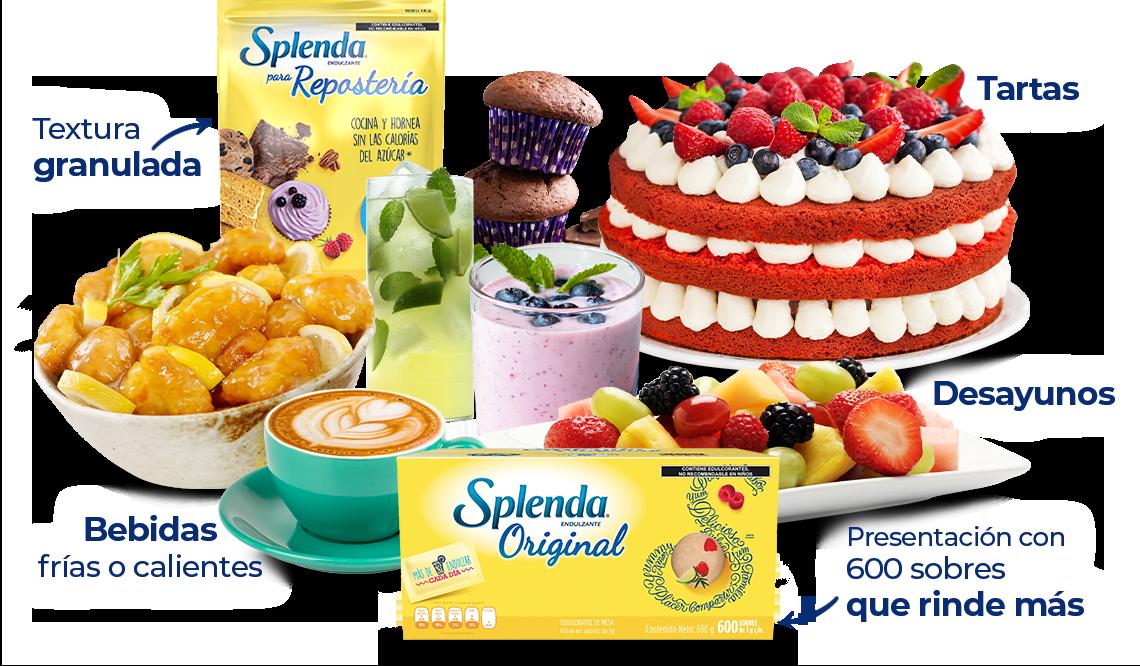 Usa Splenda en desayunos, fruta, postres