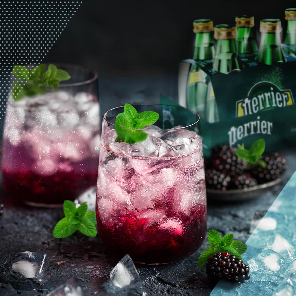 00 Agua Mineral Perrier Coctel Zarzamora