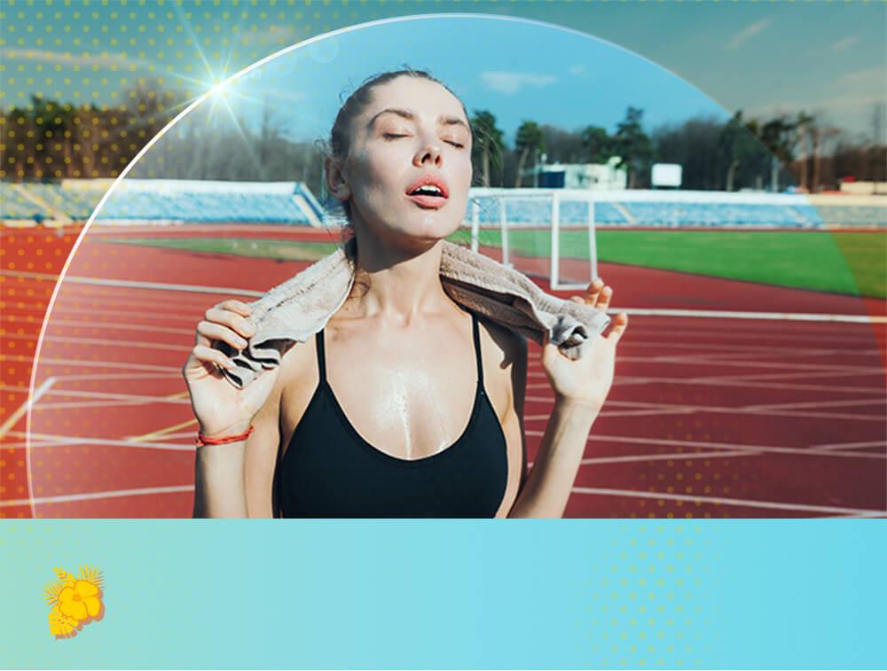 bloqueador solar para hacer deporte
