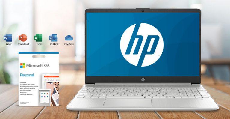 ¡Compra una laptop HP y llévate gratis Microsoft 365!