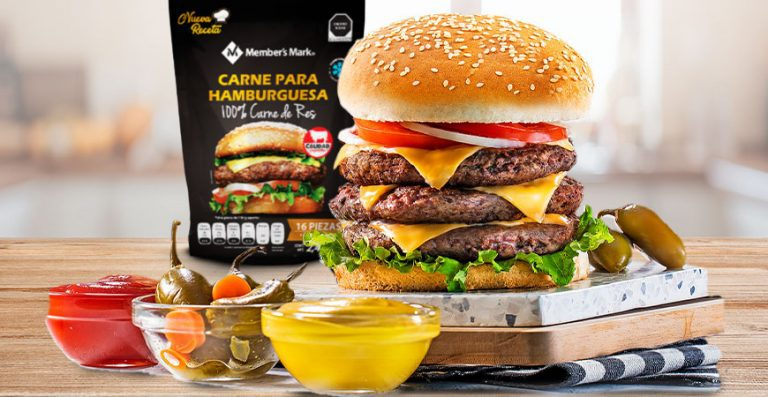 Carne para hamburguesas de res, Member's Mark