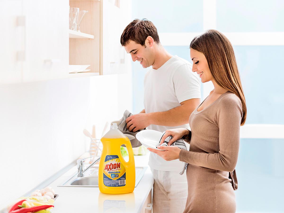 detergente líquido para trastes Axión