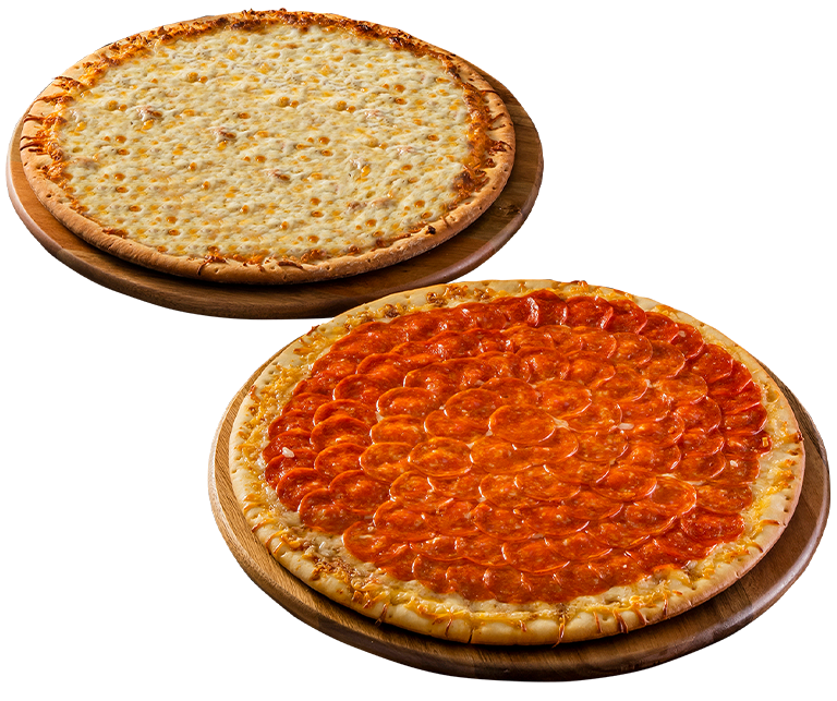 Dos Pizza Cuatro Quesos Peperoni 2
