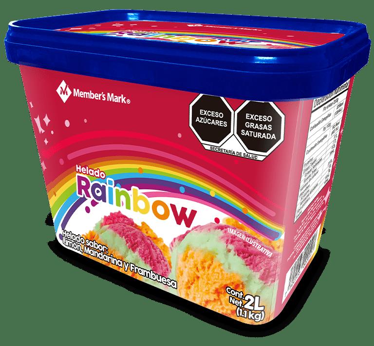 Bote de helado Rainbow