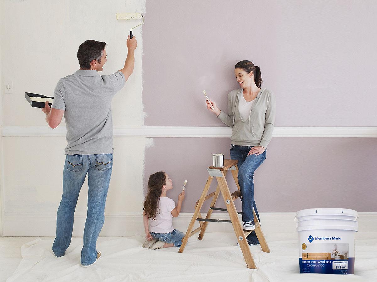 Pintura Blanca Para Interiores Members Mark