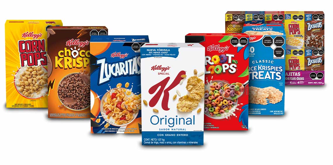 Cajas de cereal Kellog's