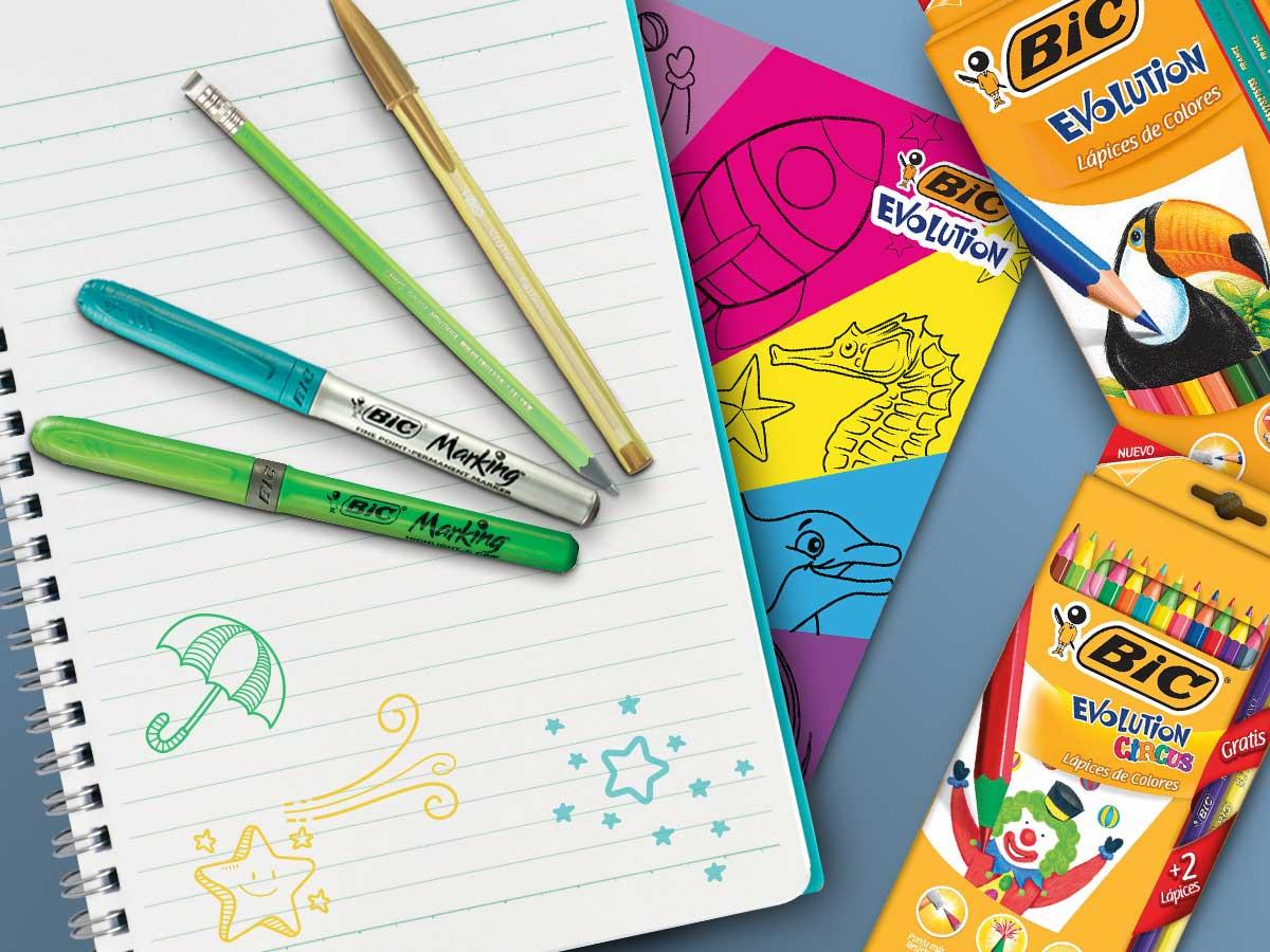 Lapices Colores Plumas Bic 2
