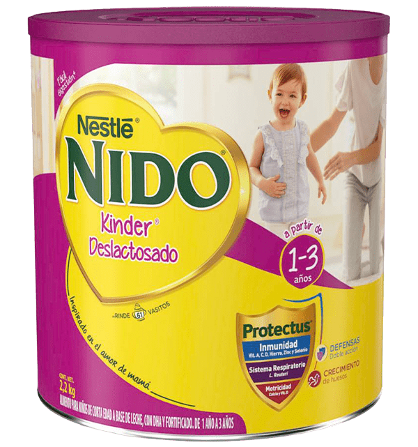 Leche En Polvo Nido Kinder Deslactosada 2.2 Kg