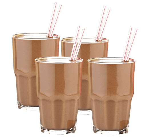 Vasos Leche Con Chocolate